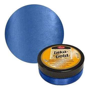 Viva Decor Steel BLUE Inka Gold Beeswax Polish 2.2oz 914 612320*