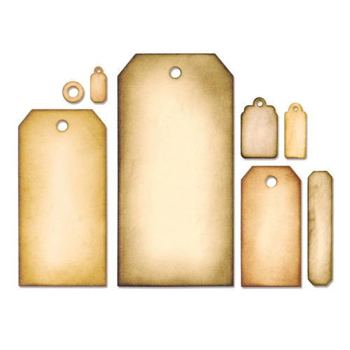 Tim Holtz Sizzix Framelits TAG COLLECTION Wafer Thin Die Set 658784 Preview Image