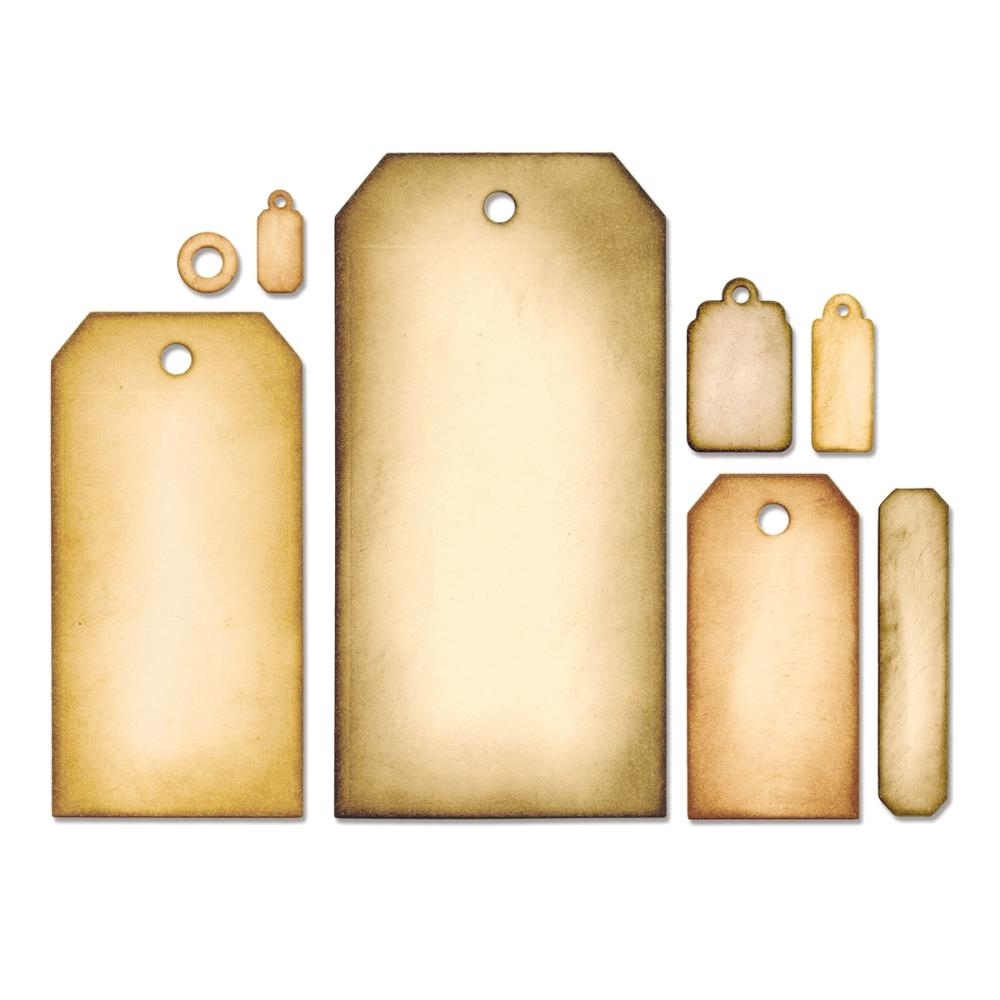 Tim Holtz Sizzix Framelits TAG COLLECTION Wafer Thin Die Set 658784 zoom image