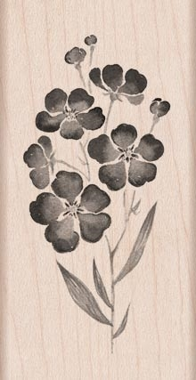 HERO ARTS FLOWERS ON A STEM RUBBER STAMP H5935  zoom image