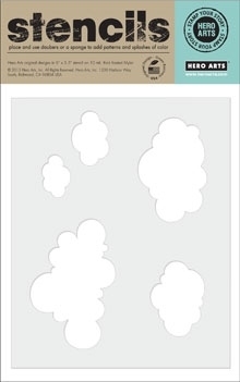HERO ARTS STENCIL CLOUD PATTERN SA018  zoom image