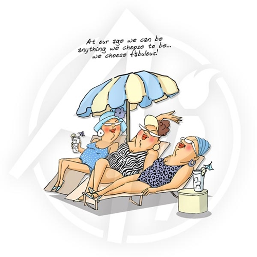 Art Impressions LOUNGERS SET Cling Rubber Stamps 4473 Preview Image