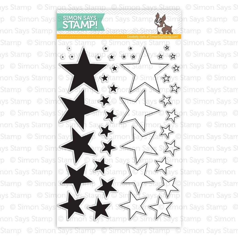Simon Says Clear Stamps LOTS OF STARS sss101404 Pure Sunshine zoom image