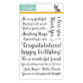 Simon Says Clear Stamps FRIENDSHIP MESSAGES sss101428 Pure Sunshine