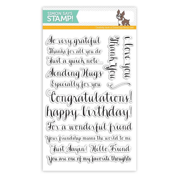 Simon Says Clear Stamps FRIENDSHIP MESSAGES sss101428 Pure Sunshine zoom image