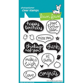 Lawn Fawn CHIT CHAT Clear Stamps LF669*