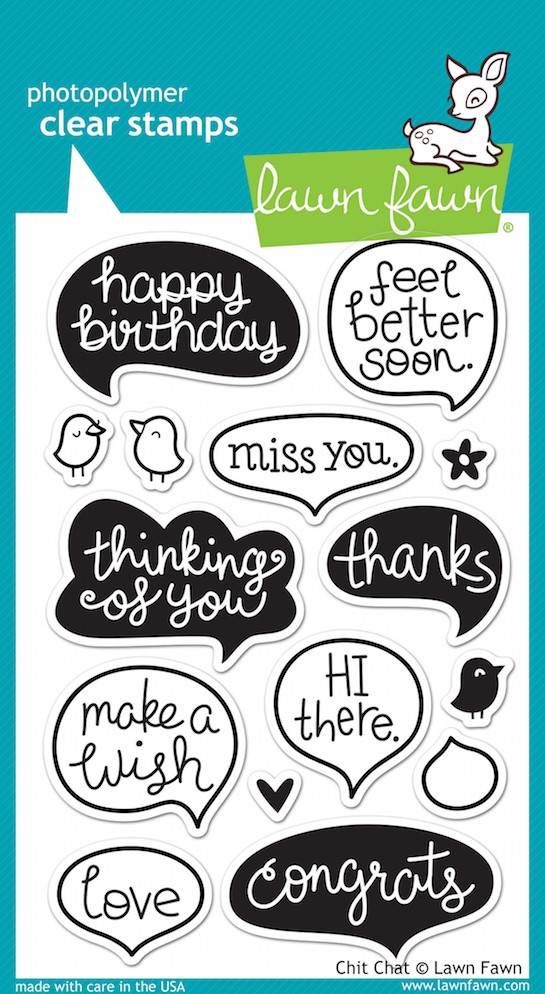 Lawn Fawn CHIT CHAT Clear Stamps LF669 zoom image