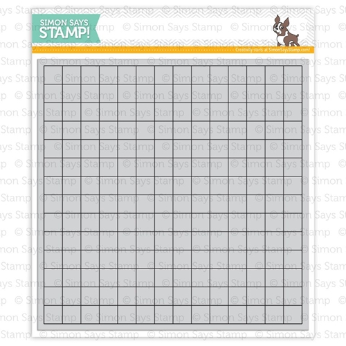 Simon Says Cling Rubber Stamp GRID BACKGROUND sss101408 Pure Sunshine Preview Image