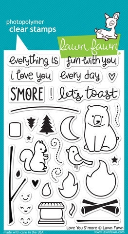 Lawn Fawn LOVE YOU SMORE Clear Stamps LF671 Preview Image