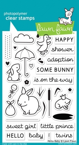 Lawn Fawn HELLO BABY Clear Stamps LF673 Preview Image