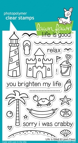 Lawn Fawn Life Is Good Clear Stamp Set