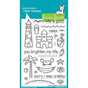 Lawn Fawn LIFE IS GOOD Clear Stamps LF680
