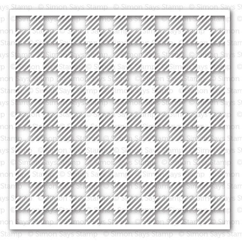 Simon Says Stamp Stencil GINGHAM SSST121343 Pure Sunshine Preview Image