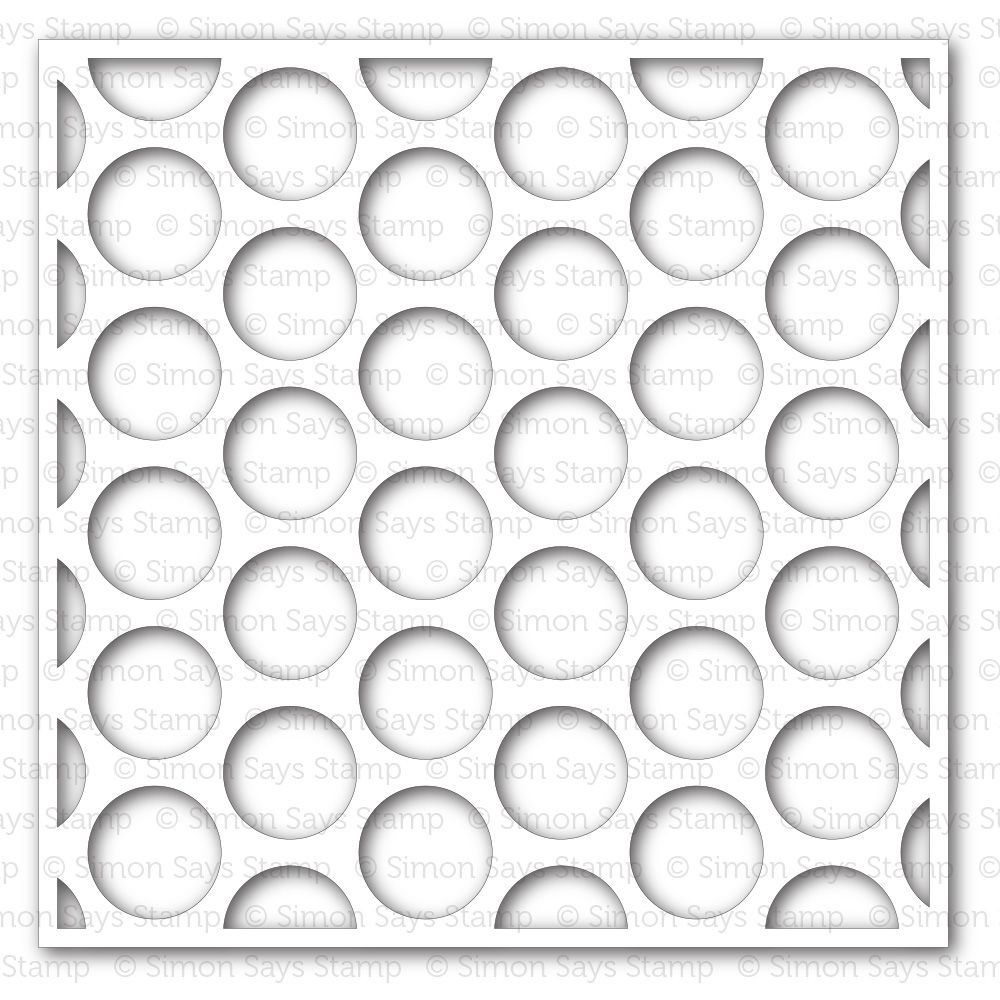 Simon Says Stamp Stencil EXTRA LARGE DOTS ssst121347 Pure Sunshine zoom image