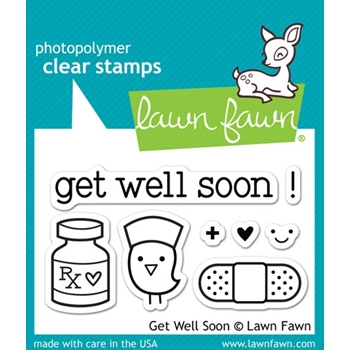 Lawn Fawn GET WELL SOON Clear Stamps LF682