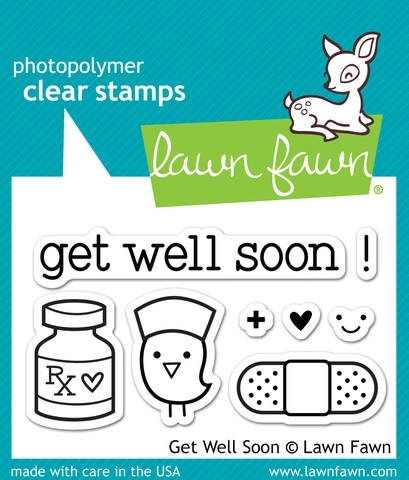 Lawn Fawn GET WELL SOON Clear Stamps LF682 zoom image