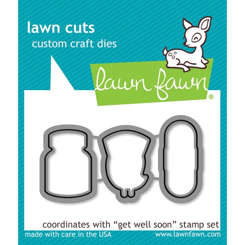 Lawn Fawn GET WELL SOON Lawn Cuts Dies LF683 Preview Image