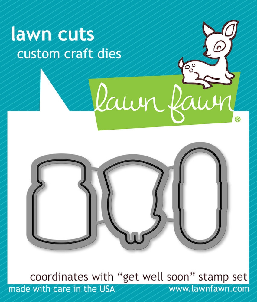 Lawn Fawn GET WELL SOON Lawn Cuts Dies LF683 zoom image