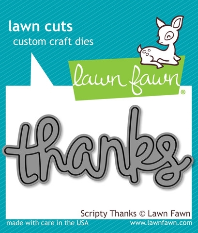 Lawn Fawn SCRIPTY THANKS Lawn Cuts Die LF690 Preview Image