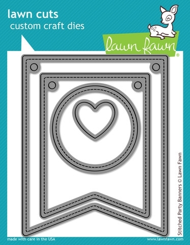 Lawn Fawn STITCHED PARTY BANNERS Lawn Cuts Dies LF687 Preview Image