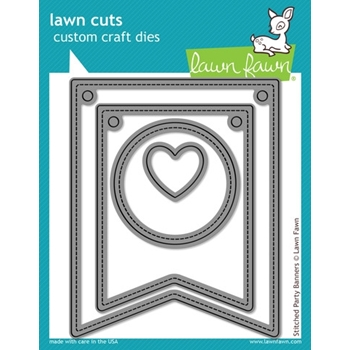 Lawn Fawn STITCHED PARTY BANNERS Lawn Cuts Dies LF687*