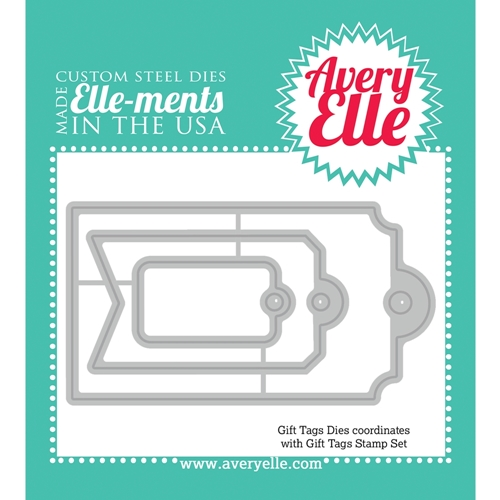 Avery Elle Steel Dies GIFT TAGS Elle-Ments D-14-16 Preview Image