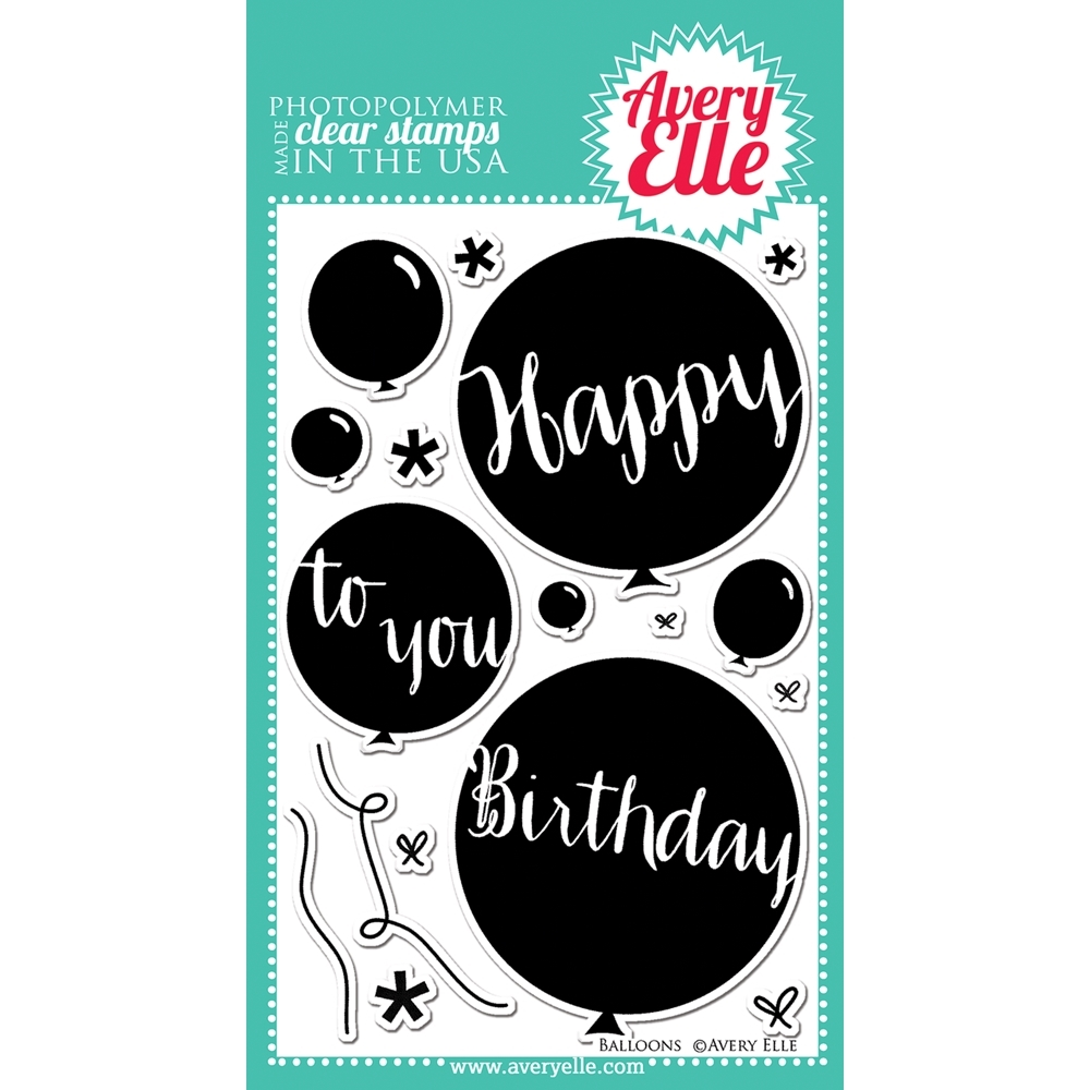 Avery Elle Clear Stamps BALLOONS St-14-18 zoom image