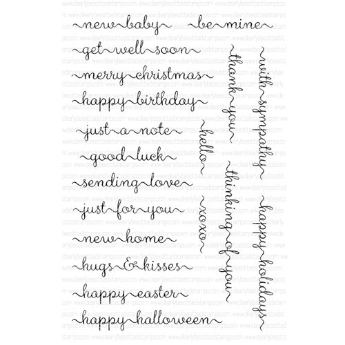 Clearly Besotted SWEET LITTLE SENTIMENTS Clear Stamps  Preview Image