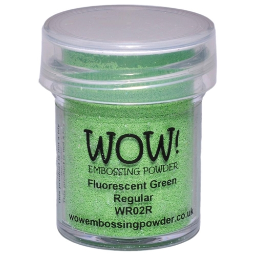 WOW Embossing Powder FLUORESCENT GREEN REGULAR WR02R Preview Image