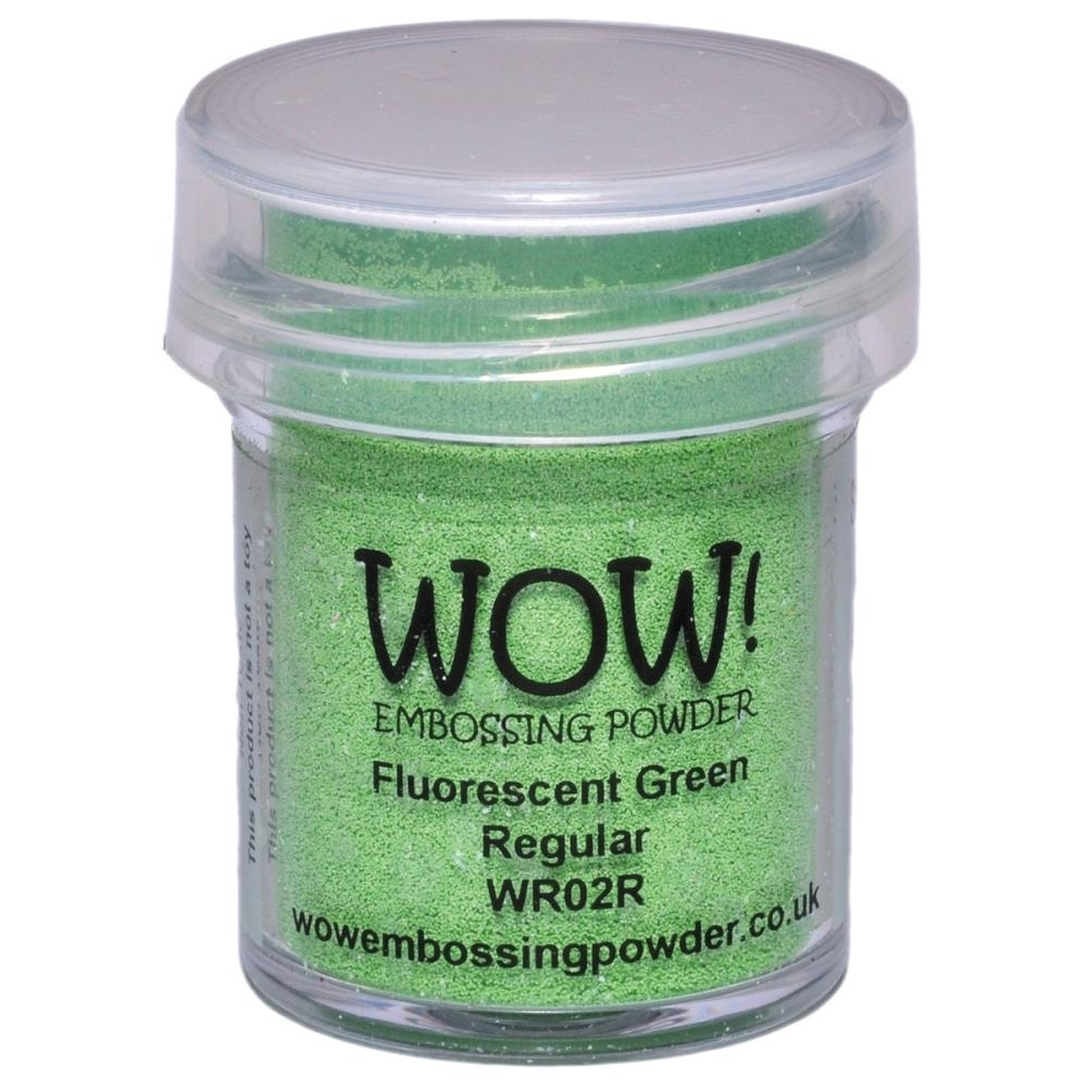 WOW Embossing Powder FLUORESCENT GREEN REGULAR WR02R zoom image