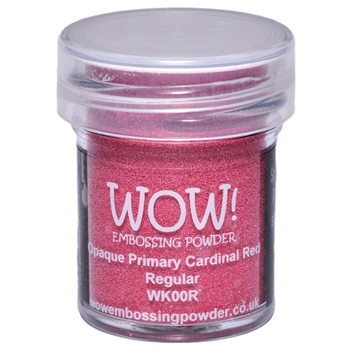 WOW Embossing Powder OPAQUE PRIMARY CARDINAL RED REGULAR WK00R