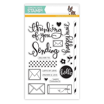 Simon Says Clear Stamps SENDING HAPPY THOUGHTS