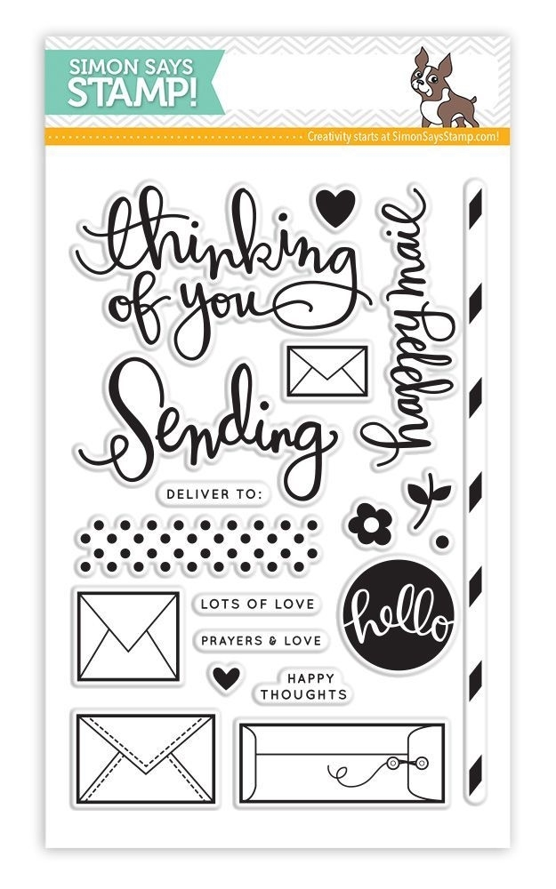 Simon Says Clear Stamps SENDING HAPPY THOUGHTS sss101429 zoom image