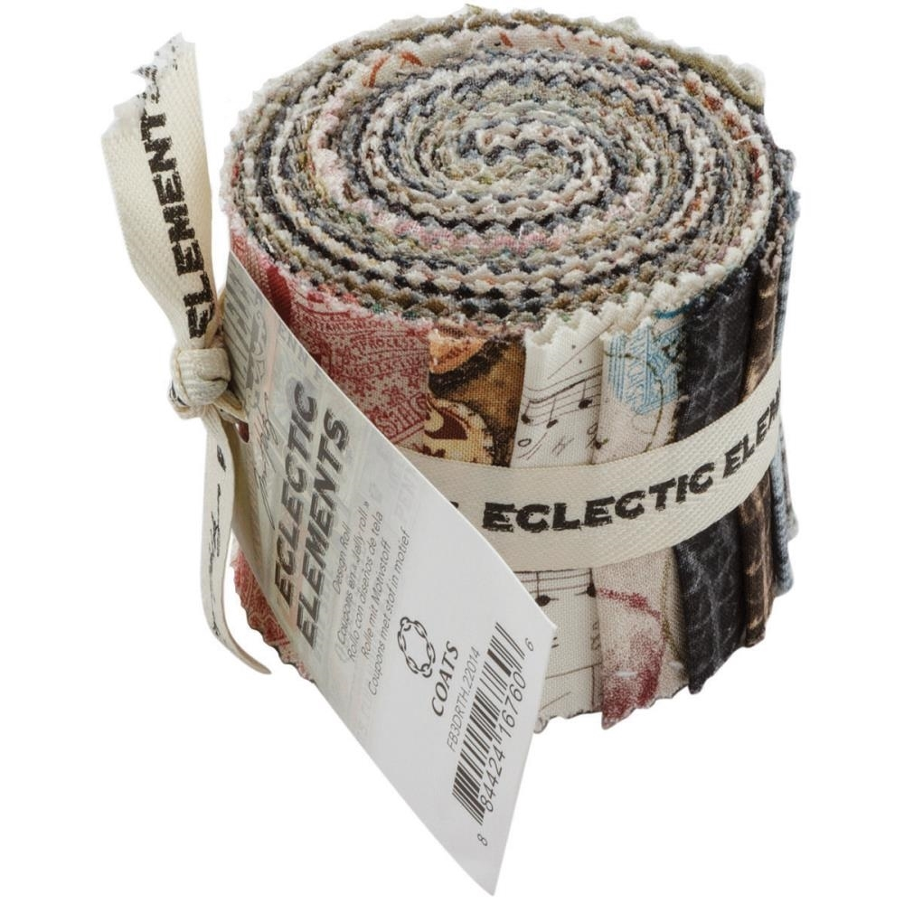 Tim Holtz Fabric Eclectic Elements 16760 DESIGN ROLL 13PC zoom image