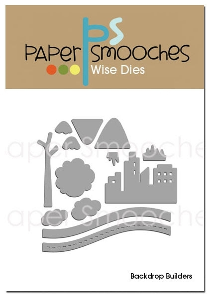 Paper Smooches BACKDROP BUILDERS Wise Dies zoom image