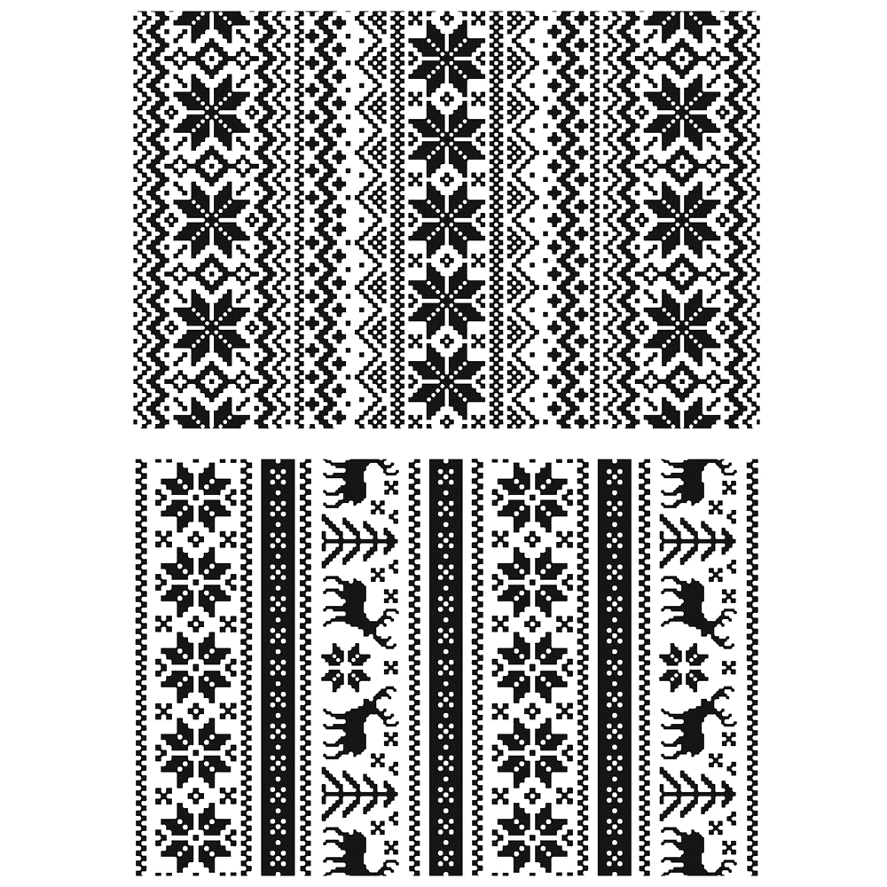 Tim Holtz Cling Rubber Stamps HOLIDAY KNITS CMS206 zoom image