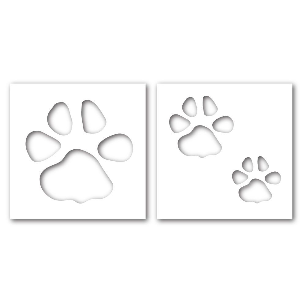 Simon Says Stamp Stencils PAWPRINT ssst121356 This is the Life zoom image