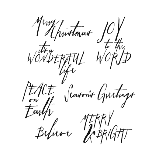 Tim Holtz Cling Rubber Stamps HANDWRITTEN HOLIDAYS 1 CMS208 Preview Image