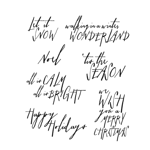 Tim Holtz Cling Rubber Stamps HANDWRITTEN HOLIDAYS 2 CMS209 Preview Image