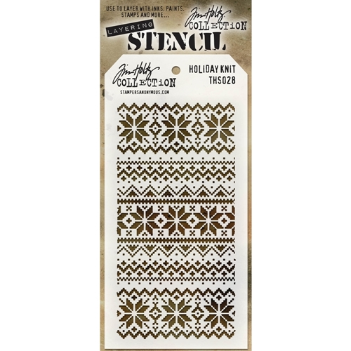 Tim Holtz Layering Stencil HOLIDAY KNIT THS028 Preview Image