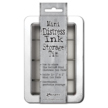 Tim Holtz MINI DISTRESS INK STORAGE TIN Ranger TDA42013 **