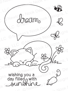 Newton's Nook Designs NEWTON'S DAY DREAM Clear Stamp Set 20140704 Preview Image