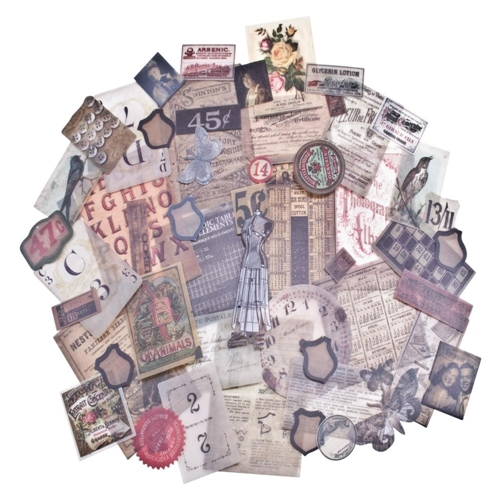 Tim Holtz Idea-ology Ephemera Pack VELLUM THRIFT SHOP TH93149 Preview Image
