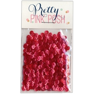 Pretty Pink Posh 4MM RASPBERRY Cupped Sequins PPP088 zoom image