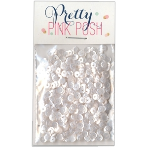 Pretty Pink Posh 4MM MARSHMALLOW Cupped Sequins zoom image