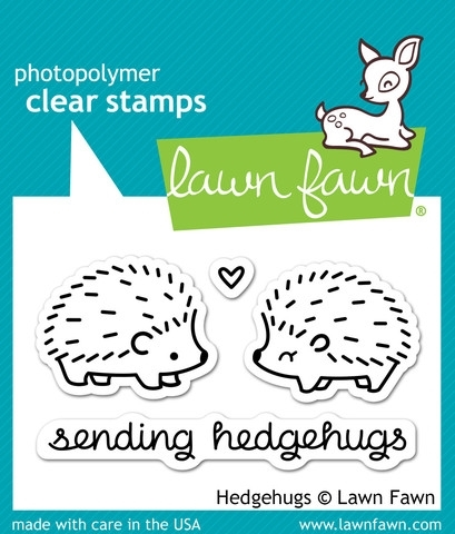 Lawn Fawn HEDGEHUGS Clear Stamps LF729 zoom image