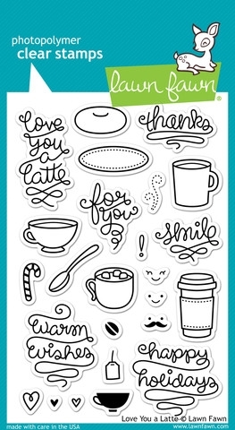 Lawn Fawn LOVE YOU A LATTE Clear Stamps LF704* Preview Image