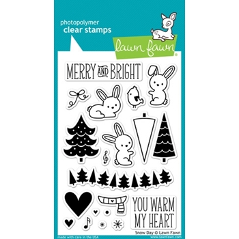 Lawn Fawn SNOW DAY Clear Stamps LF723