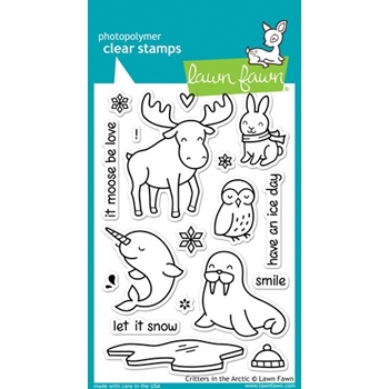 Lawn Fawn CRITTERS IN THE ARCTIC Clear Stamps LF708