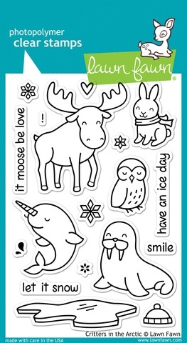 Lawn Fawn CRITTERS IN THE ARCTIC Clear Stamps LF708 zoom image